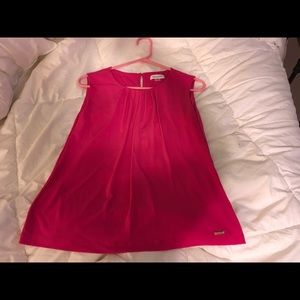 Calvin Klein red top like new large sleeveless